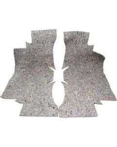 1964-1967 Chevelle Molded Carpet Jute Insulation